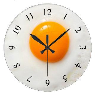 fried egg kitchen Wall Clock