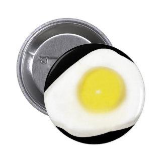 Fried Egg on Black 6 Cm Round Badge