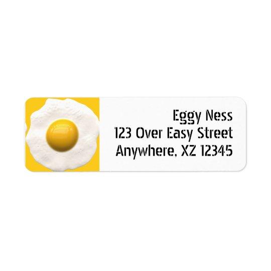 Fried Egg Return Address Label