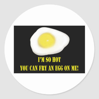 Fried Egg So Hot Round Stickers