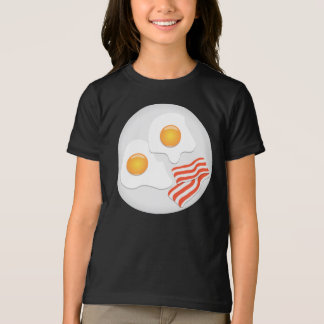 Fried Eggs And Bacon Girls T-Shirt