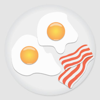 Fried Eggs And Bacon Stickers