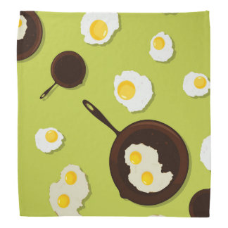Fried Eggs Fun Food Design Bandana