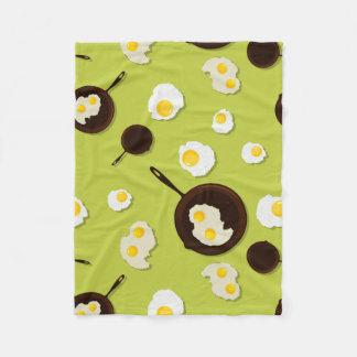 Fried Eggs Fun Food Design Fleece Blanket
