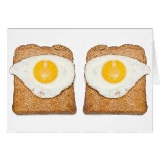Fried Eggs Greeting Card