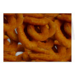 Fried Golden Onion Rings Photography Greeting Cards