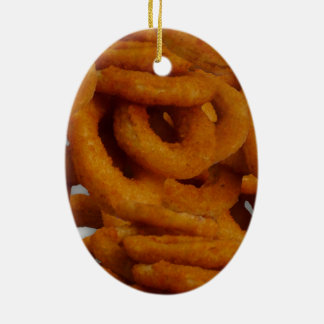 Fried Golden Onion Rings Photography Christmas Ornament
