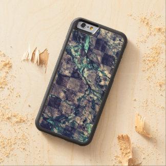 Fried Marble Purple Indigo Teal Blue Geode Slice Carved® Maple iPhone 6 Bumper