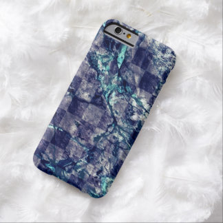 Fried Marble Purple Indigo Teal Blue Geode Slice Barely There iPhone 6 Case