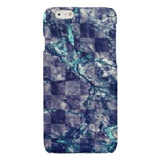 Fried Marble Purple Indigo Teal Blue Geode Slice Glossy iPhone 6 Case
