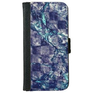 Fried Marble Purple Indigo Teal Blue Geode Slice iPhone 6 Wallet Case