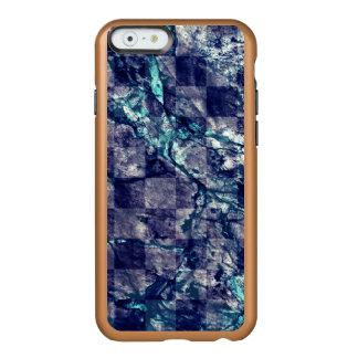 Fried Marble Purple Indigo Teal Blue Geode Slice Incipio Feather® Shine iPhone 6 Case