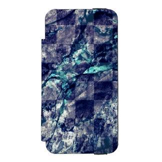 Fried Marble Purple Indigo Teal Blue Geode Slice Incipio Watson™ iPhone 5 Wallet Case