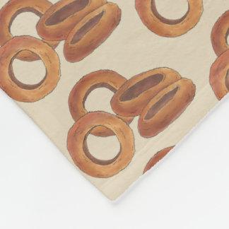 Fried Onion Rings Junk Fast Food Foodie Print Fleece Blanket