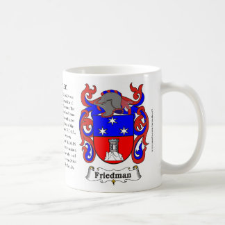 Friedman the Origin the Meaning and the Crest on Coffee Mugs