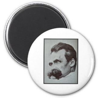 Friedrich Nietzsche 6 Cm Round Magnet