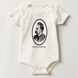 Friedrich Nietzsche  Black The MUSEUM Zazzle Gifts Romper