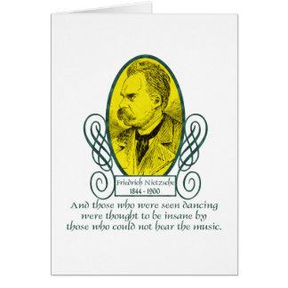 Friedrich Nietzsche Greeting Card