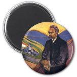 Friedrich Nietzsche Edvard Munch Fridge Magnet