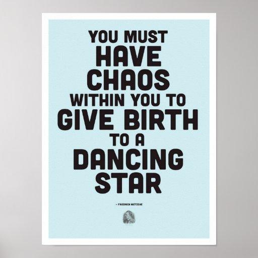 Friedrich Nietzsche Inspirational Quote - Poster