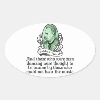 Friedrich Nietzsche Oval Sticker