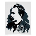 Friedrich Nietzsche portrait vector drawing Print