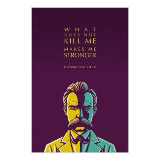Friedrich Nietzsche quote: What does not kill me Poster