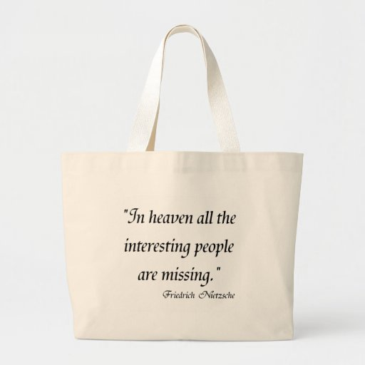 Friedrich Nietzsche Quotes on T-shirts! Tote Bag