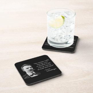 Friedrich Nietzsche Troll Quote Drink Coasters