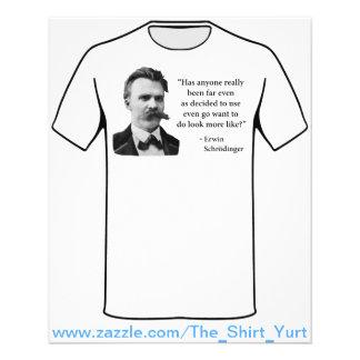 Friedrich Nietzsche Troll Quote Flyer Design
