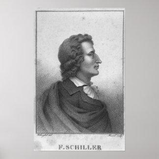 Friedrich Schiller  engraved by Massol Poster