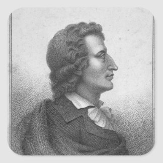 Friedrich Schiller  engraved by Massol Square Sticker
