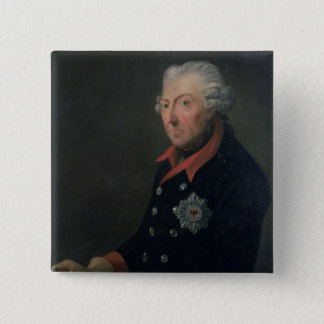 Friedrich the Great  Wearing the Uniform 15 Cm Square Badge