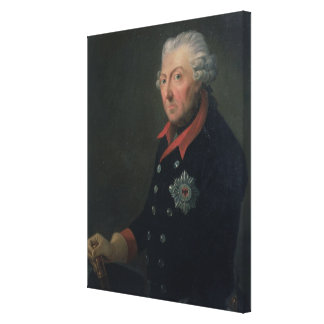 Friedrich the Great  Wearing the Uniform Canvas Print