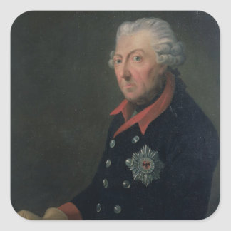 Friedrich the Great  Wearing the Uniform Square Sticker