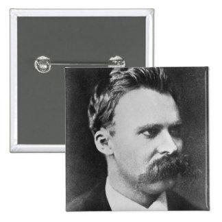 Friedrich Wilhelm Nietzsche (1844-1900) 1873 (b/w 15 Cm Square Badge