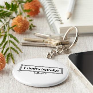 Friedrichstrasse Berlin Street Sign Keychains