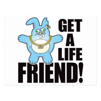 Friend Bad Bun Life Postcard