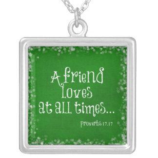 Friend Bible Verse Scripture Custom Necklace