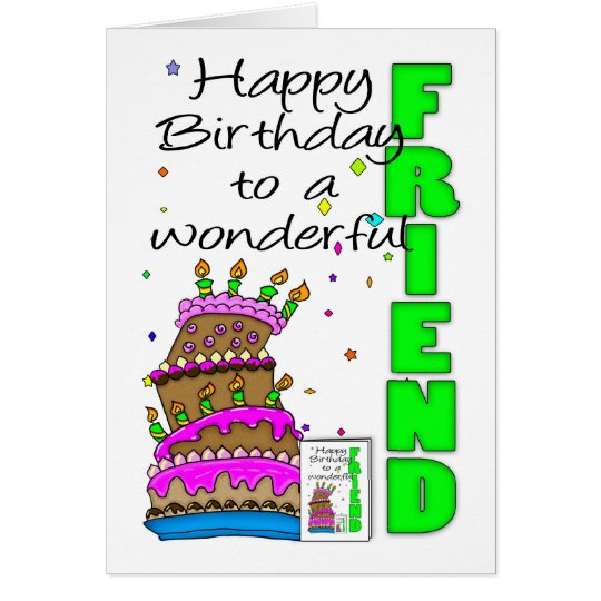 Friend Birthday Card, Crazy Cake, Cake Birthday Ca