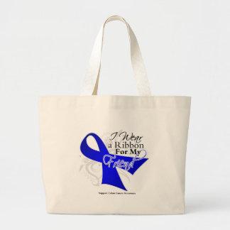 Friend Blue Ribbon - Colon Cancer Jumbo Tote Bag