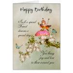Friend Fairy Birthday Card With Blossom