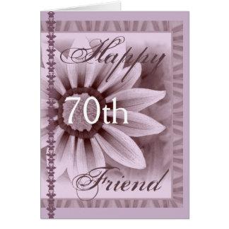 FRIEND  - Happy 70th Birthday - LAVENDER Flower Card
