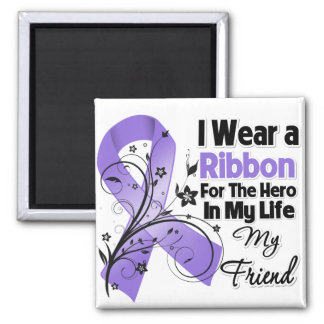 Friend Hero in My Life Hodgkin's Lymphoma Refrigerator Magnet