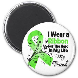 Friend Hero in My Life Lymphoma Ribbon Refrigerator Magnets
