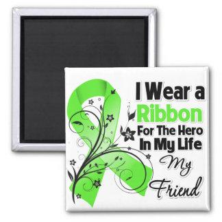 Friend Hero in My Life Lymphoma Ribbon Fridge Magnets