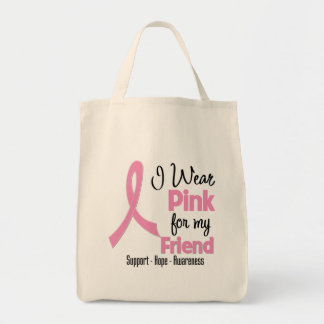 Friend - I Wear Pink - Breast Cancer Canvas Bags