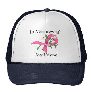 Friend - In Memory - Breast Cancer Hats