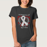 Friend - In Memory Lung Cancer Heart Tee Shirt