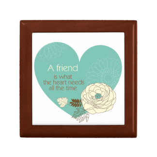 friend is what the heart need small square gift box